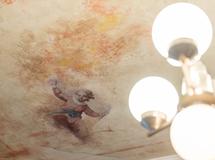 Wandmalerei, Wandbemalung, Wandgemälde, Wandkunst, Wandbild, Illusionsmalerei, Perspektivmalerei, Decken Bemalung, Deckenmalerei, Putten, Engel, al Fresco, Freskenmalerei, Cafe Lotte, sakrale Malerei, Marmor Optik, Marmor Imitation, Marmorierung