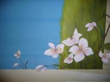 andbemalung als Illusionsmalerei mediterrane Landschaft mit Garten