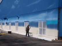 Wandmalerei, Wandbemalung, Wandgemälde, Hallenbemalung, Wandbild, Strandbild, Strand, Beachhalle, Fassadenmalerei, Fassadenbilder, Strandlandschaft, Airbrushdesign, smart art, Airbrusher Martin Dippel, Hamburg, Berlin, Ruhrgebiet